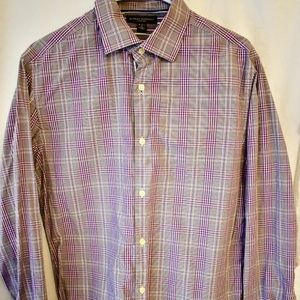 Banana Republic Men's plaid button slim shirt